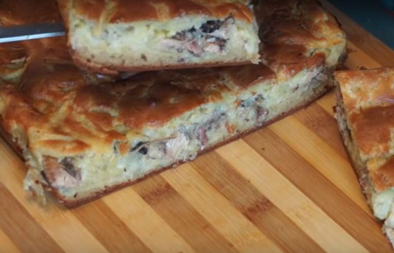 Заливной пирог на кефире в духовке – 10 быстрых и вкусных рецептов