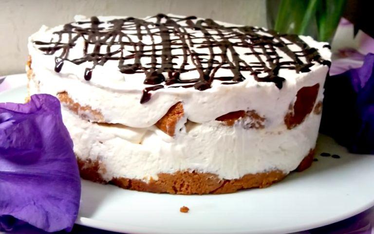 Нежный десерт из сметаны без выпечки