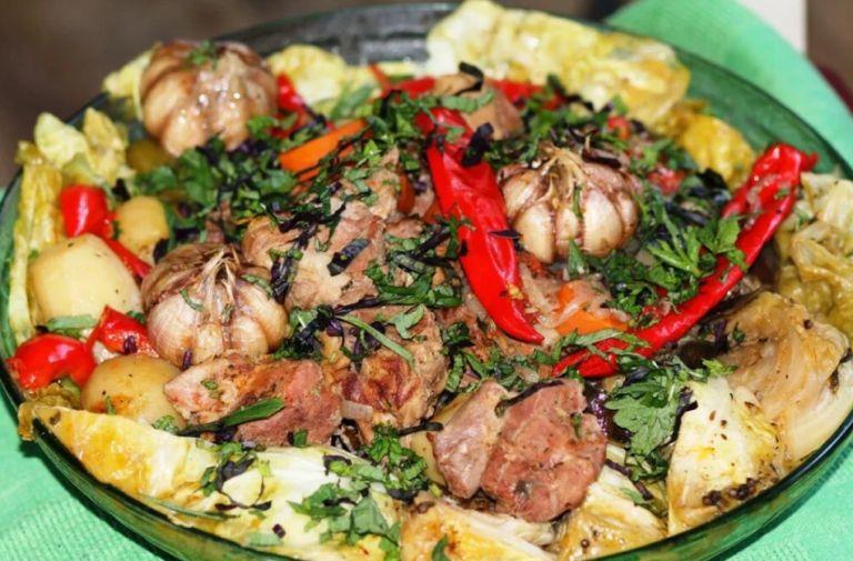 Басма по-узбекски - рецепты приготовления узбекского блюда в казане
